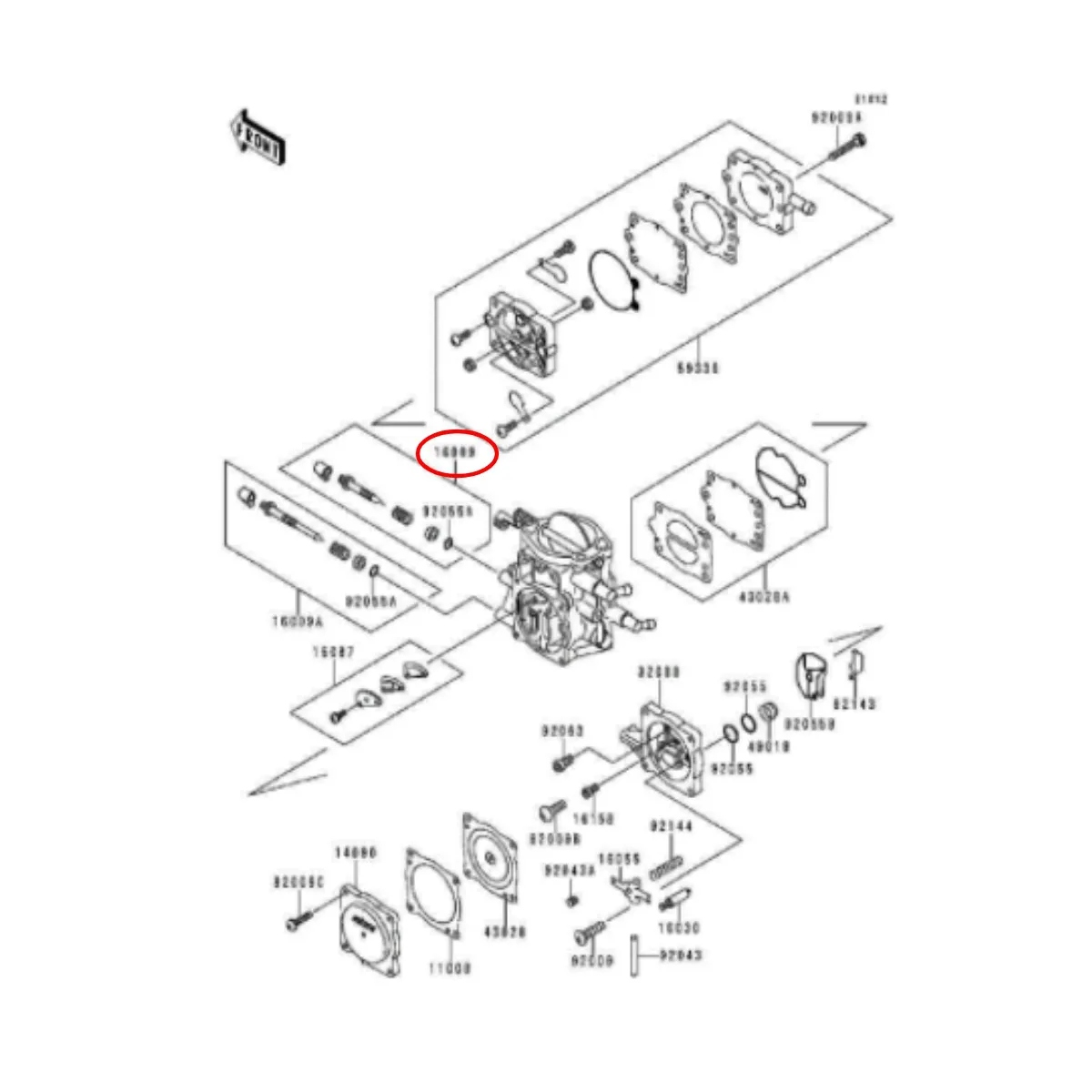 Agulha Com Sede Carburador Keihin para Jet Ski 1.8>  - Radical Peças - Peças para Jet Ski