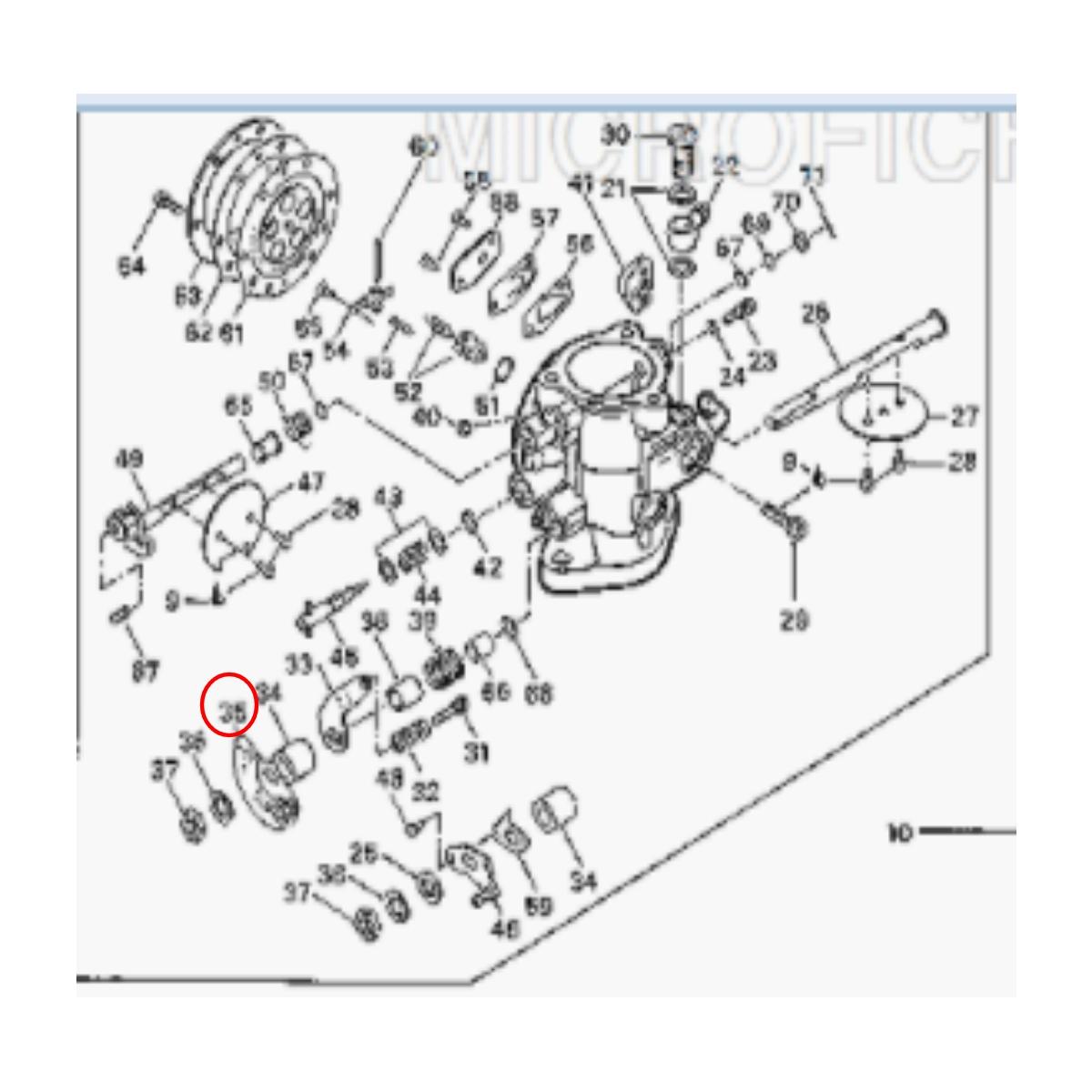 Alavanca Carburador para Jet Ski Sea Doo GT 90  - Radical Peças - Peças para Jet Ski