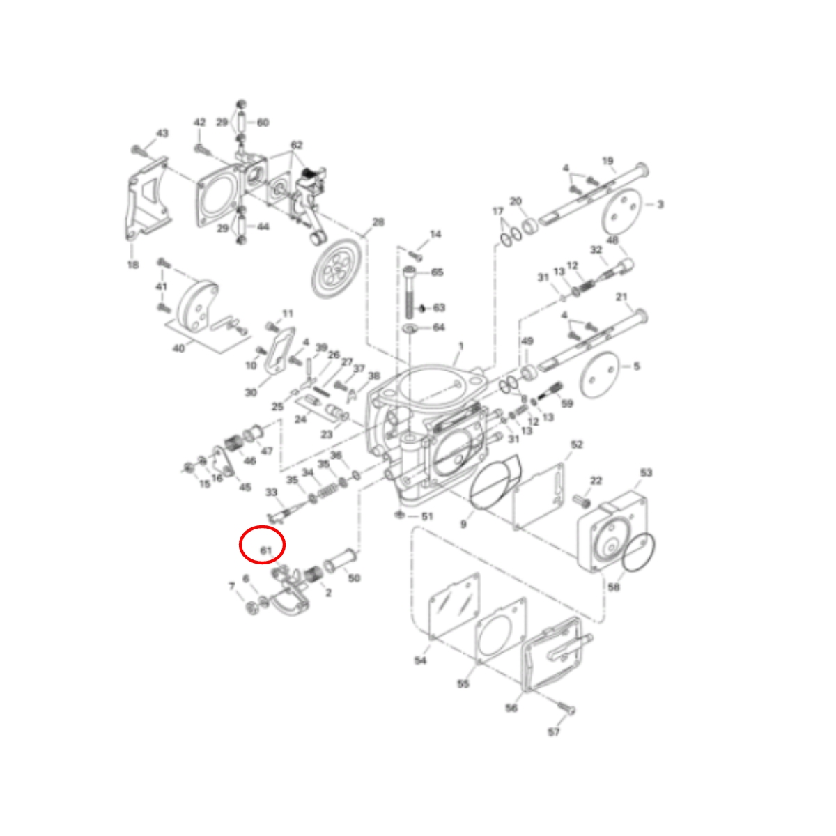 Alavanca Carburador para Jet Ski XP 96  - Radical Peças - Peças para Jet Ski