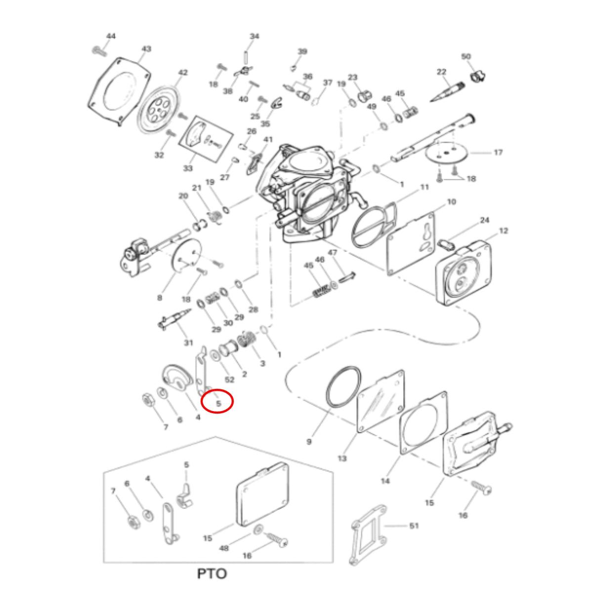 Alavanca de Acelerador Jet Ski Sea Doo GTX94 (magneto)  - Radical Peças - Peças para Jet Ski