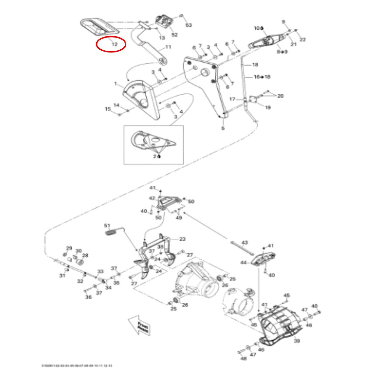 Alavanca do Reverso Jet Ski Sea Doo GTI 4 tempos nacional  - Radical Peças - Peças para Jet Ski