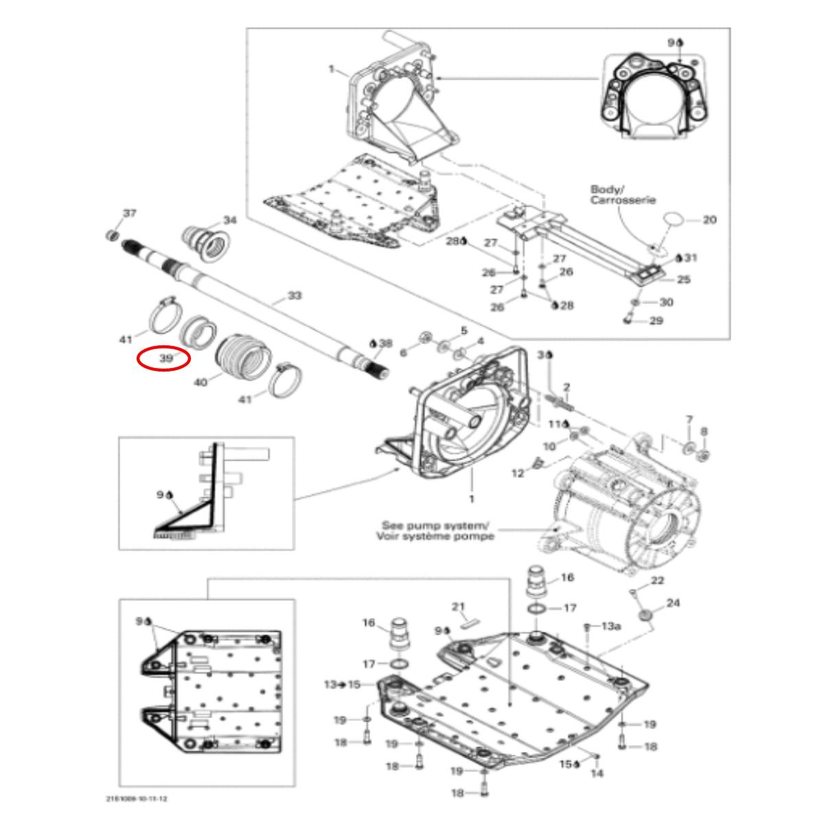 Anel Carbono Jet Ski Sea Doo RXP/RXT X e IS Original (38 mm)   - Radical Peças - Peças para Jet Ski