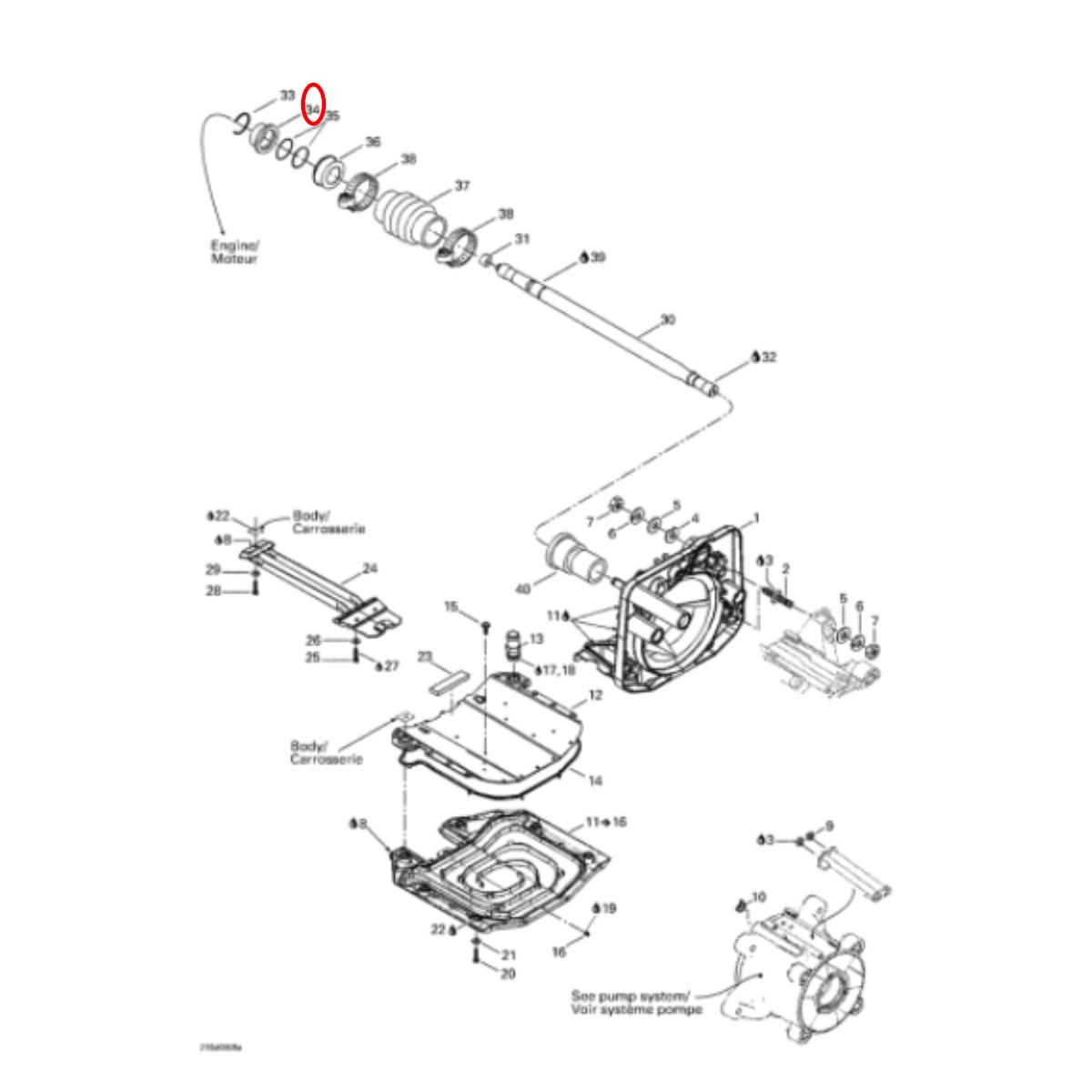Anel de Carbono Jet Ski Sea Doo 4 tec Gti,Gtx 31mm WSM  - Radical Peças - Peças para Jet Ski