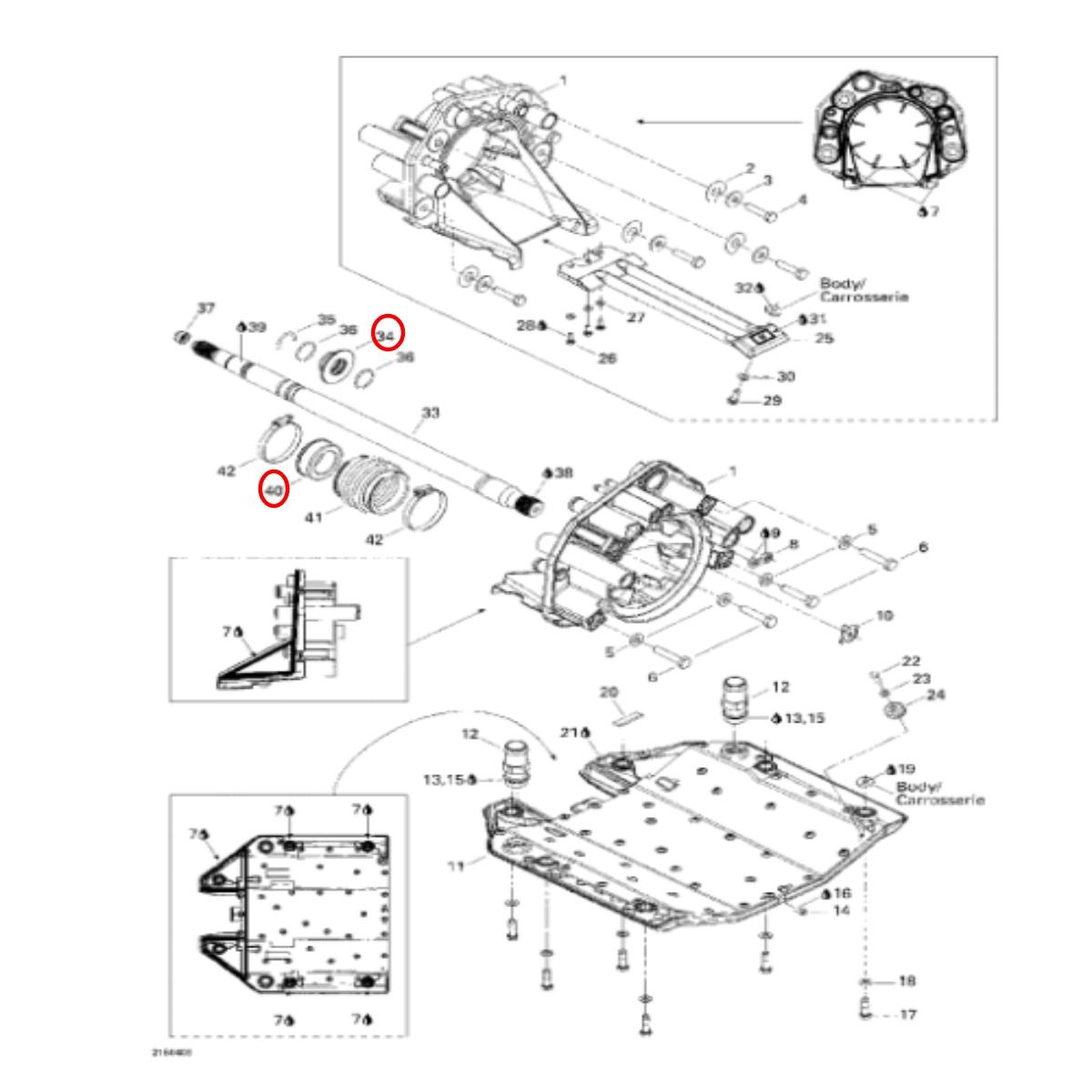 Anel de Carbono Kit  e Bucha Inox Sea Doo RXT/RXP/GTX 215/255/260  - Radical Peças - Peças para Jet Ski