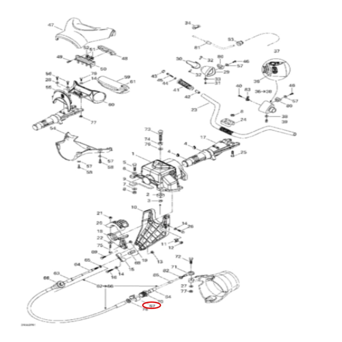 Anel de Retenção para Jet ski Sea Doo  - Radical Peças - Peças para Jet Ski