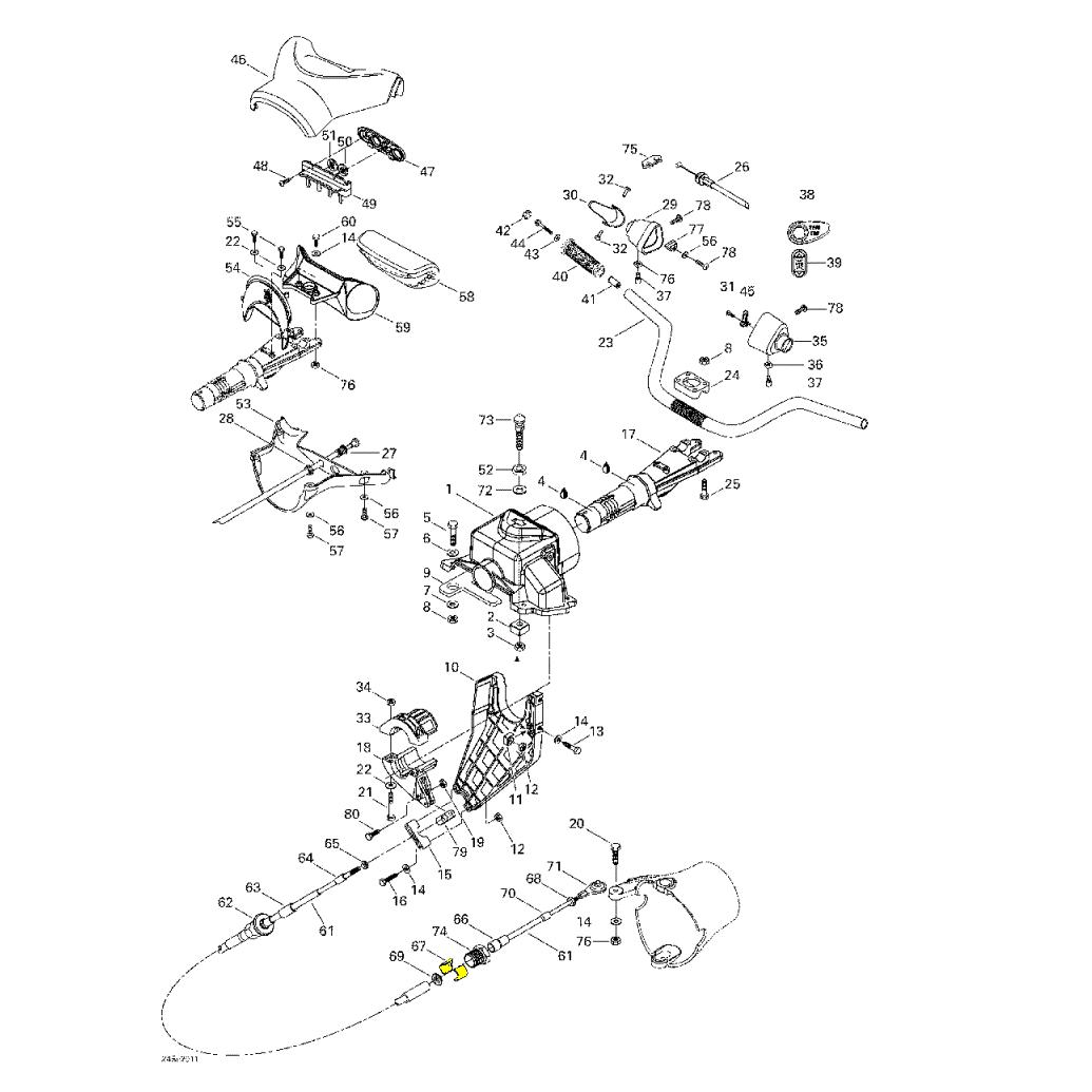 Anel de Retenção para Jet ski Sea Doo 277001527  - Radical Peças - Peças para Jet Ski
