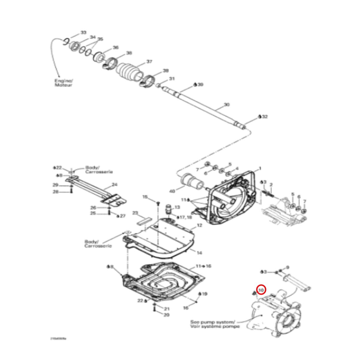 Anel de Vedação da Turbina Sea Doo 4 Tec (Redutor)  - Radical Peças - Peças para Jet Ski