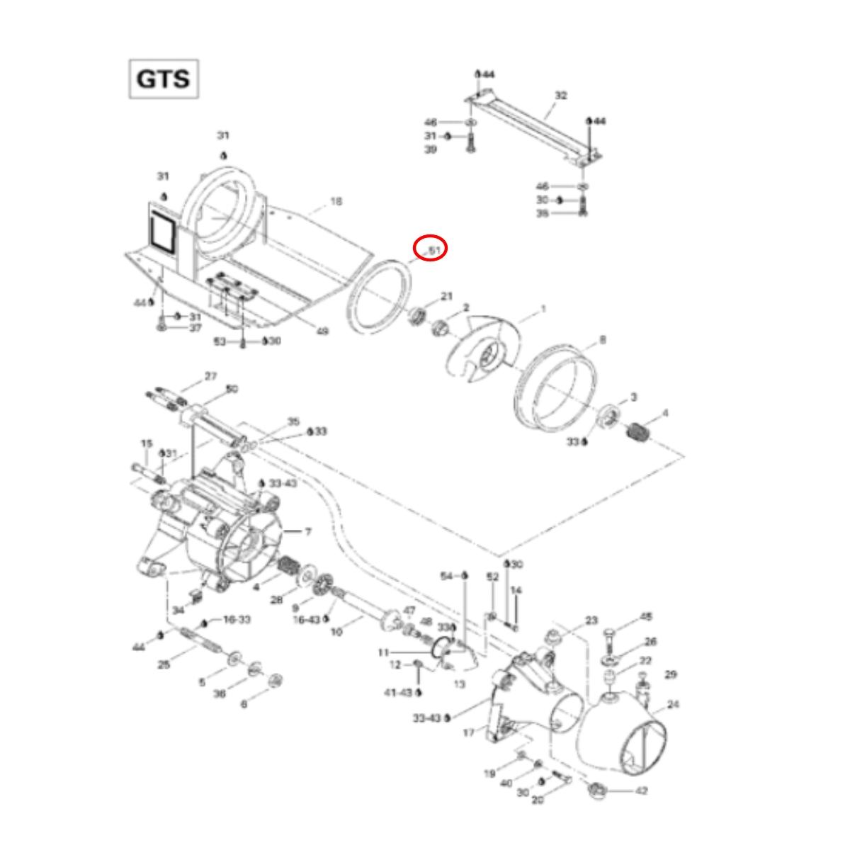 Anel Vedação da Turbina Jet Ski Sea Doo SP/SPX/XP  - Radical Peças - Peças para Jet Ski