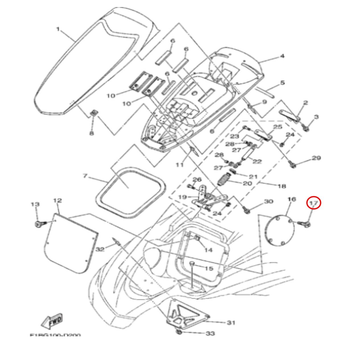 Arrebite Geladeira Jet Ski Yamaha VX  - Radical Peças - Peças para Jet Ski