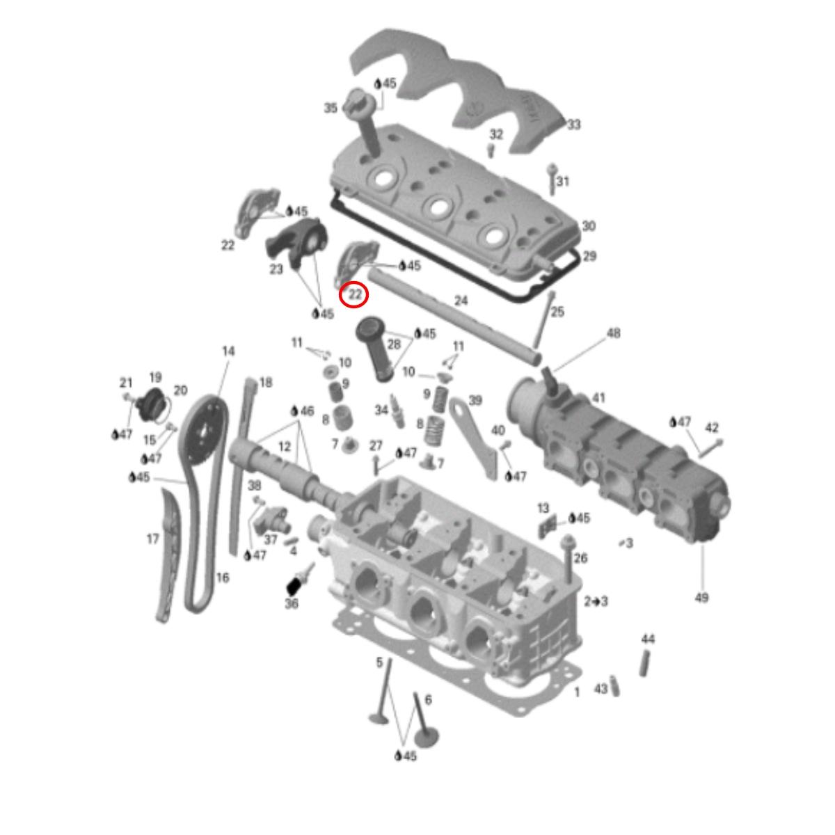 Balancinho Jet Ski Sea Doo 4 TEC Simples (6)  - Radical Peças - Peças para Jet Ski