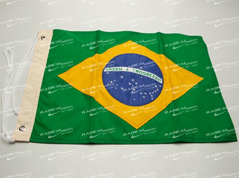 Bandeira do Brasil 33x47cm+  - Radical Peças - Peças para Jet Ski