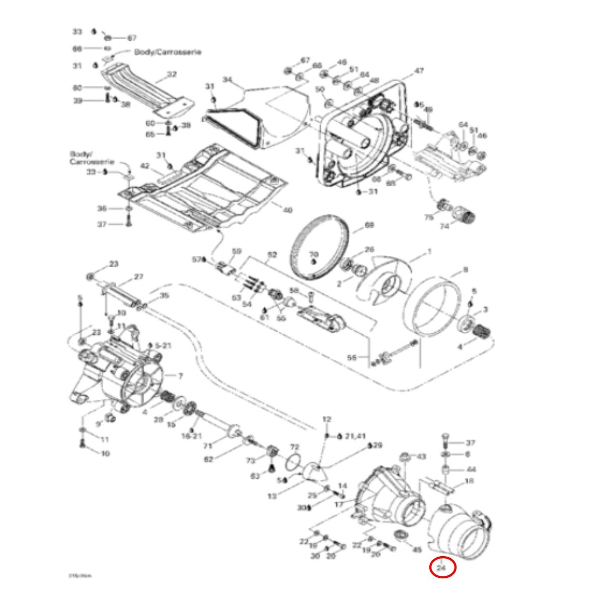 Bico Direcionador Jet Ski Sea Doo GTX Limit 98/00  - Radical Peças - Peças para Jet Ski