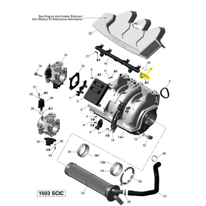 Bico Injetor para Jet Ski Sea Doo 420874520  - Radical Peças - Peças para Jet Ski
