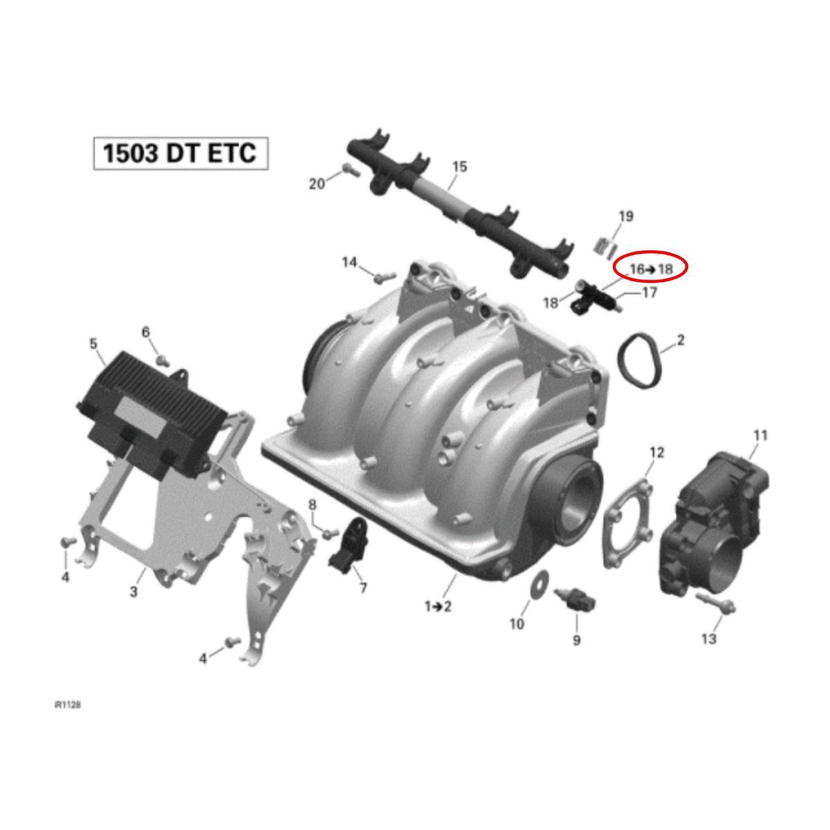 Bico Injetor para Jet Ski Sea Doo GTI/GTS 130 2011-2016  - Radical Peças - Peças para Jet Ski