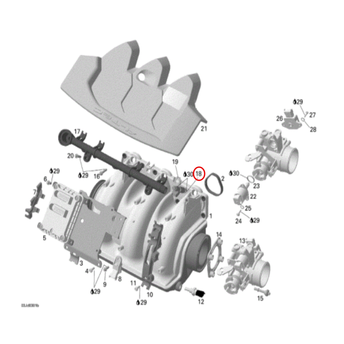 Bico Injetor para Jet Ski Sea Doo GTI/GTX 4 TEC Importado  - Radical Peças - Peças para Jet Ski