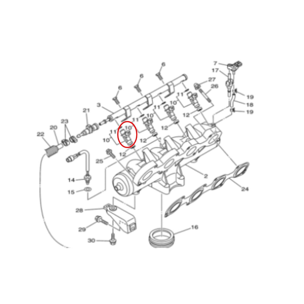 Bico Injetor para Jet Ski Yamaha SHO  - Radical Peças - Peças para Jet Ski