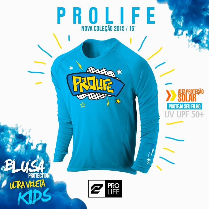 Camiseta Infantil Sun Protection Prolife 02 anos - Proteção Solar UV UPF 50+  - Radical Peças - Peças para Jet Ski