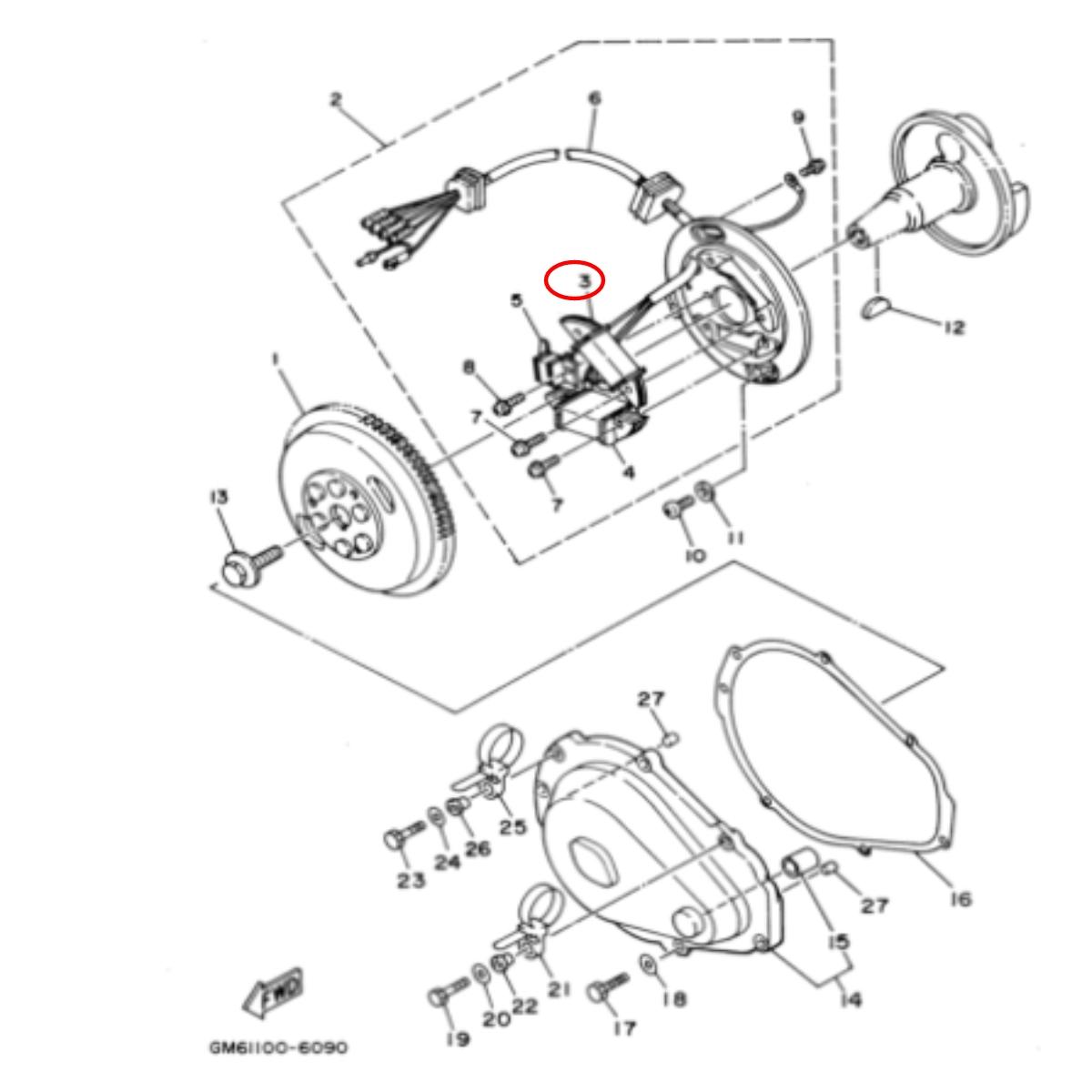 Bobina Carga para Jet Ski Yamaha Raider 700  - Radical Peças - Peças para Jet Ski
