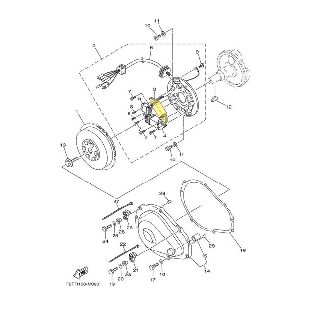 Bobina de Carga Yamaha 650/700cc Importado  - Radical Peças - Peças para Jet Ski