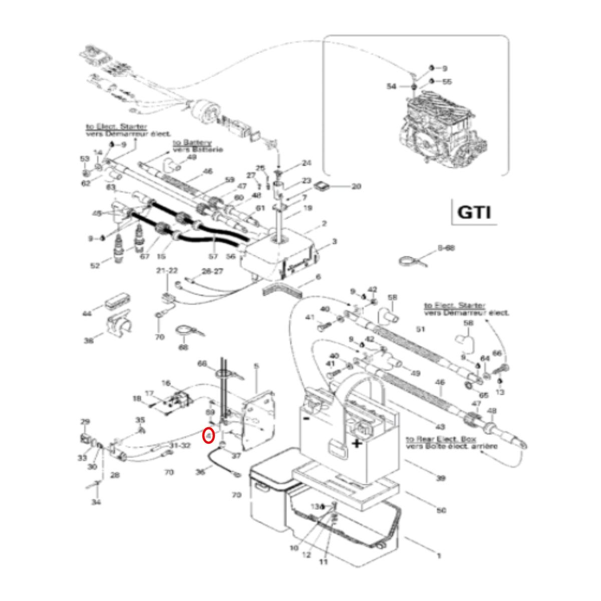 Bobina de Vela Para Jet Ski Sea Doo 2 Tempos  - Radical Peças - Peças para Jet Ski