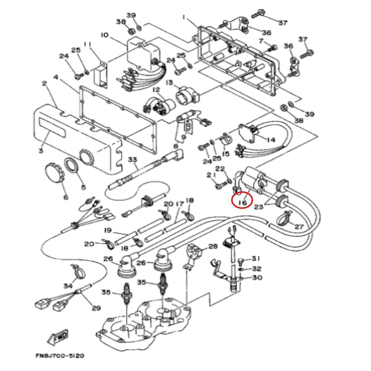 Bobina Ignição Dupla Yamaha/Kawasaki Nacional  - Radical Peças - Peças para Jet Ski