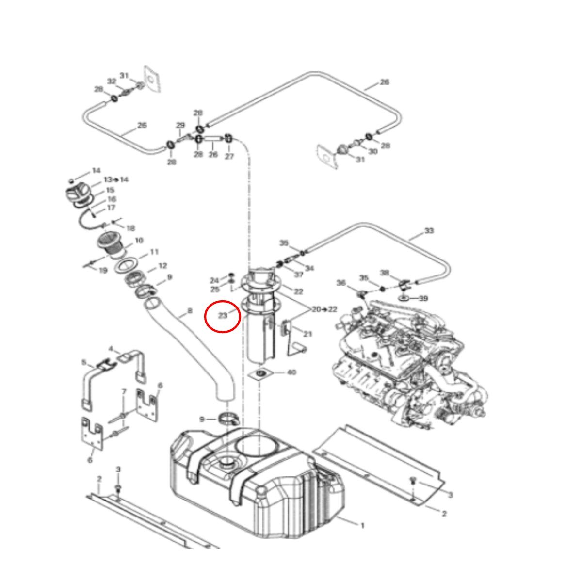 BOMBA DE COMBUSTIVEL PARA JET SKI  SEA DOO GTI 4 TEC ORIGINAL  - Radical Peças - Peças para Jet Ski