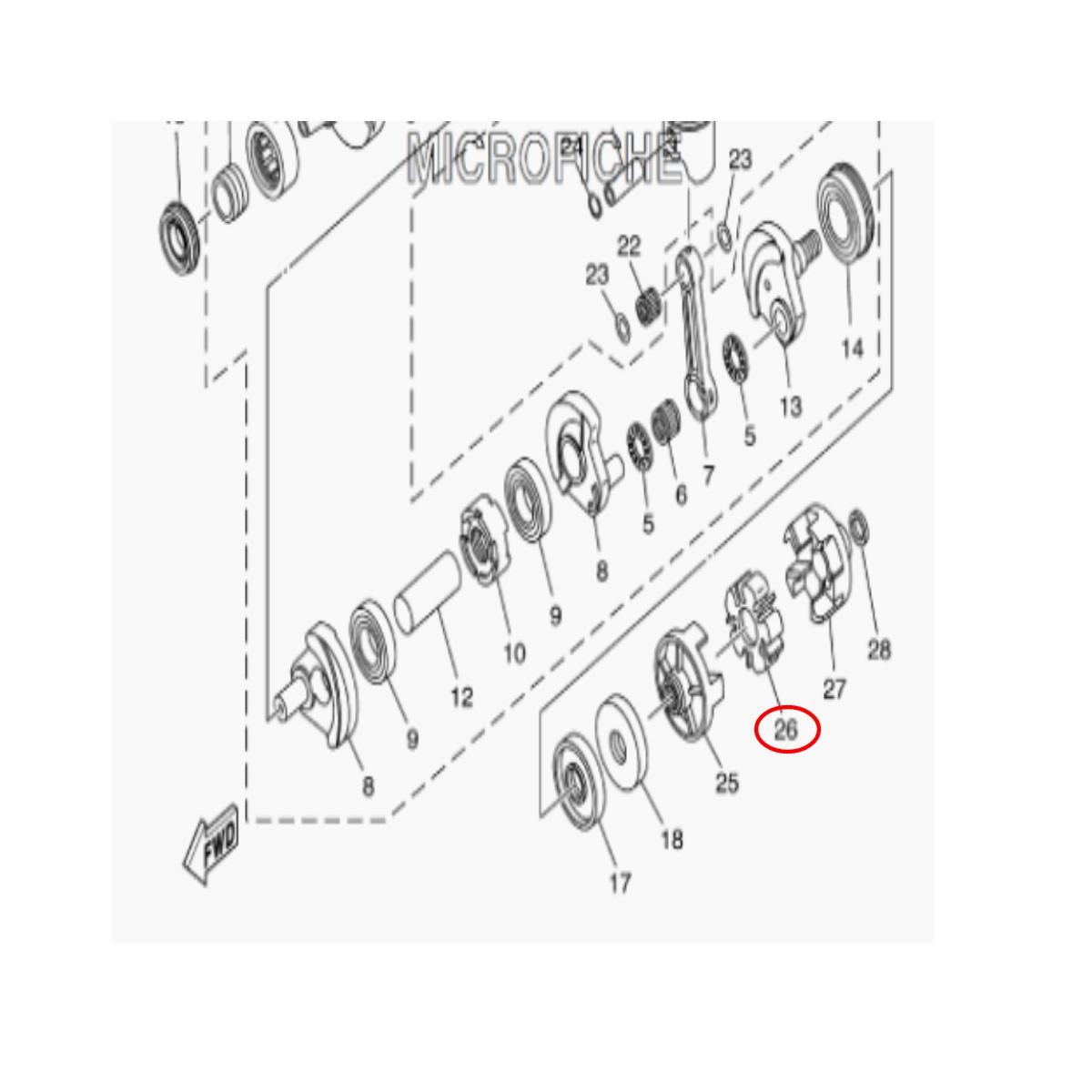 Borracha Acoplamento Jet Ski Yamaha 5 dentes GP 1200/1300R  - Radical Peças - Peças para Jet Ski