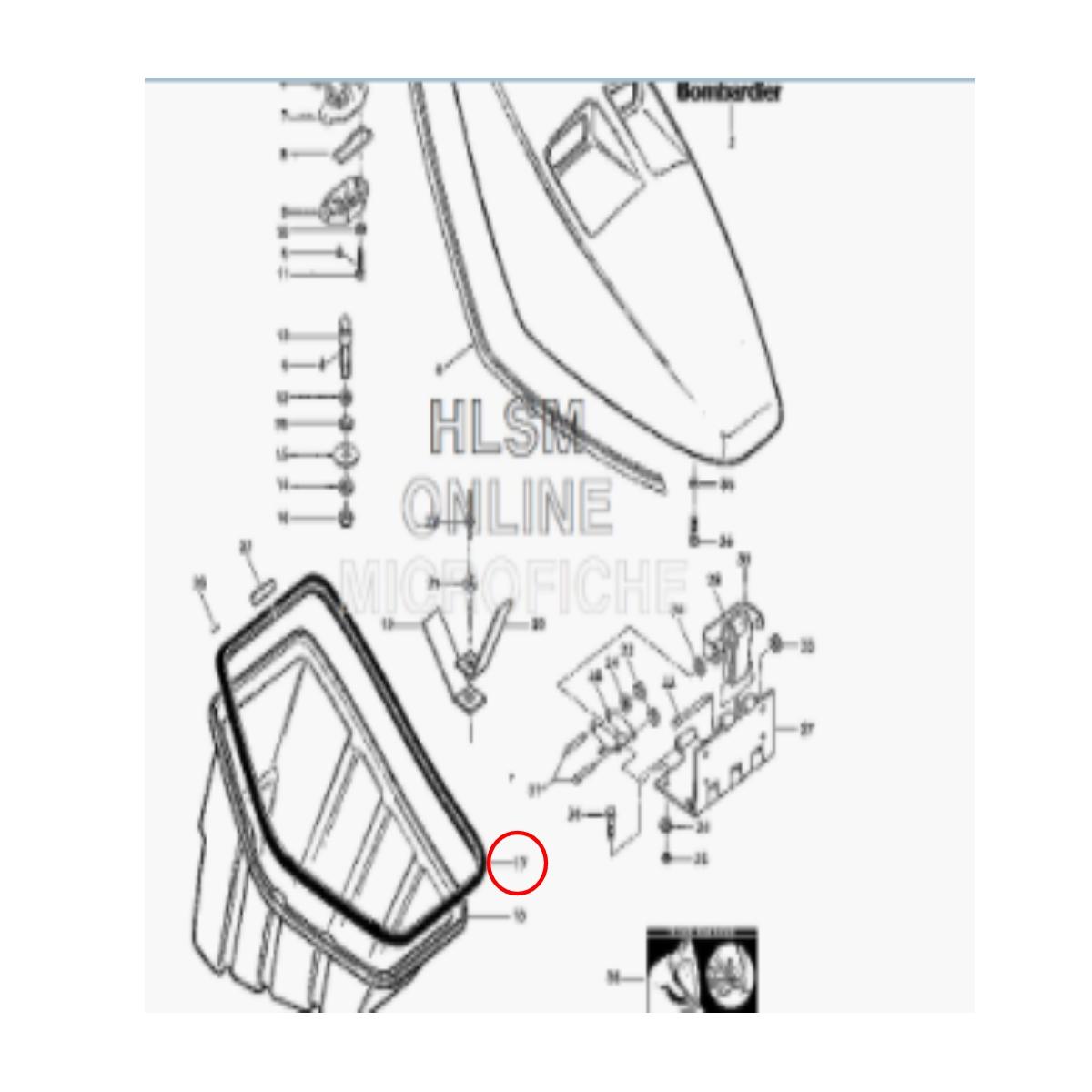 Borracha da Tampa Geladeira para Jet Ski Sea Doo GT 90  - Radical Peças - Peças para Jet Ski