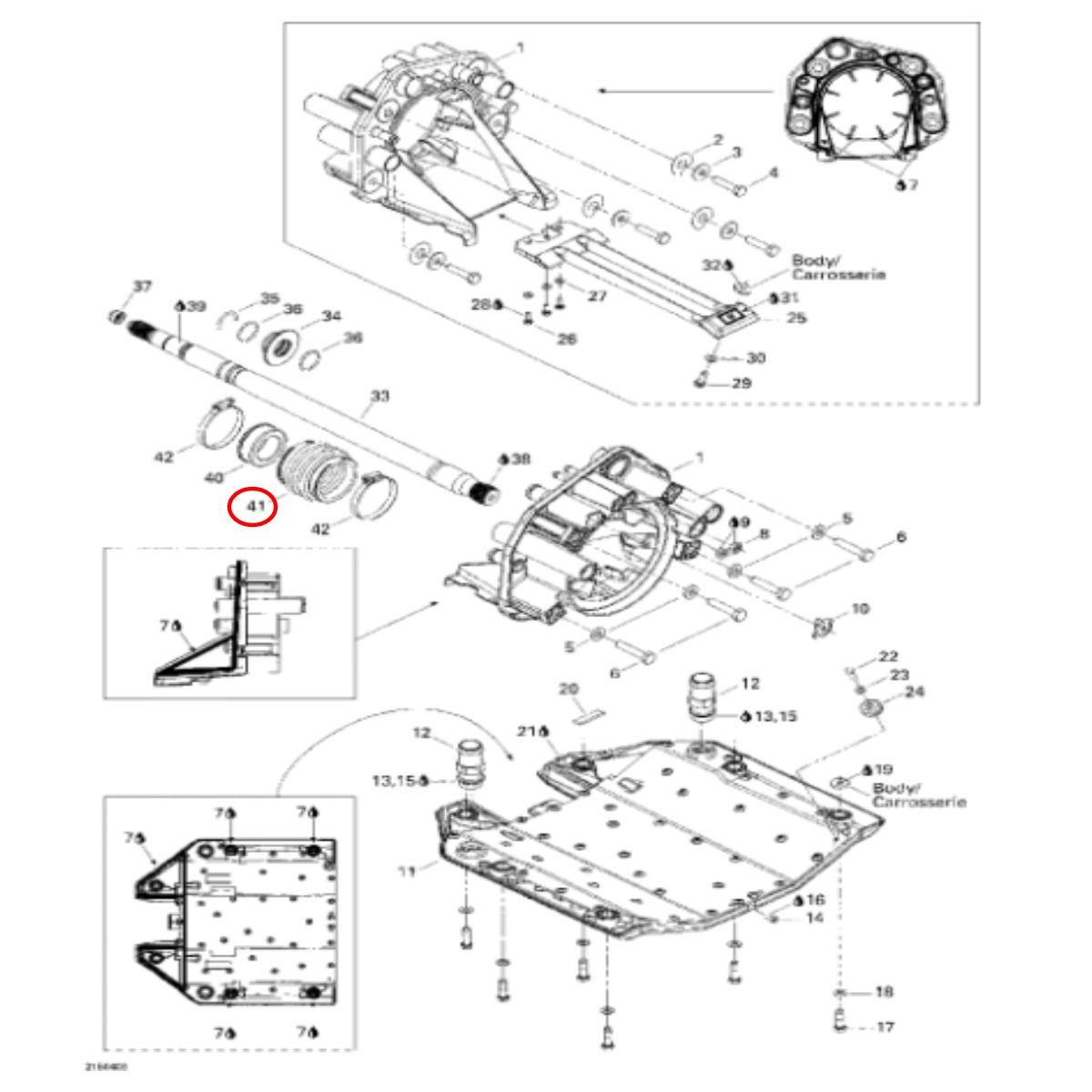 Borracha Sanfonada do Anel de Carbono para Jet Ski Sea Doo RXP  - Radical Peças - Peças para Jet Ski