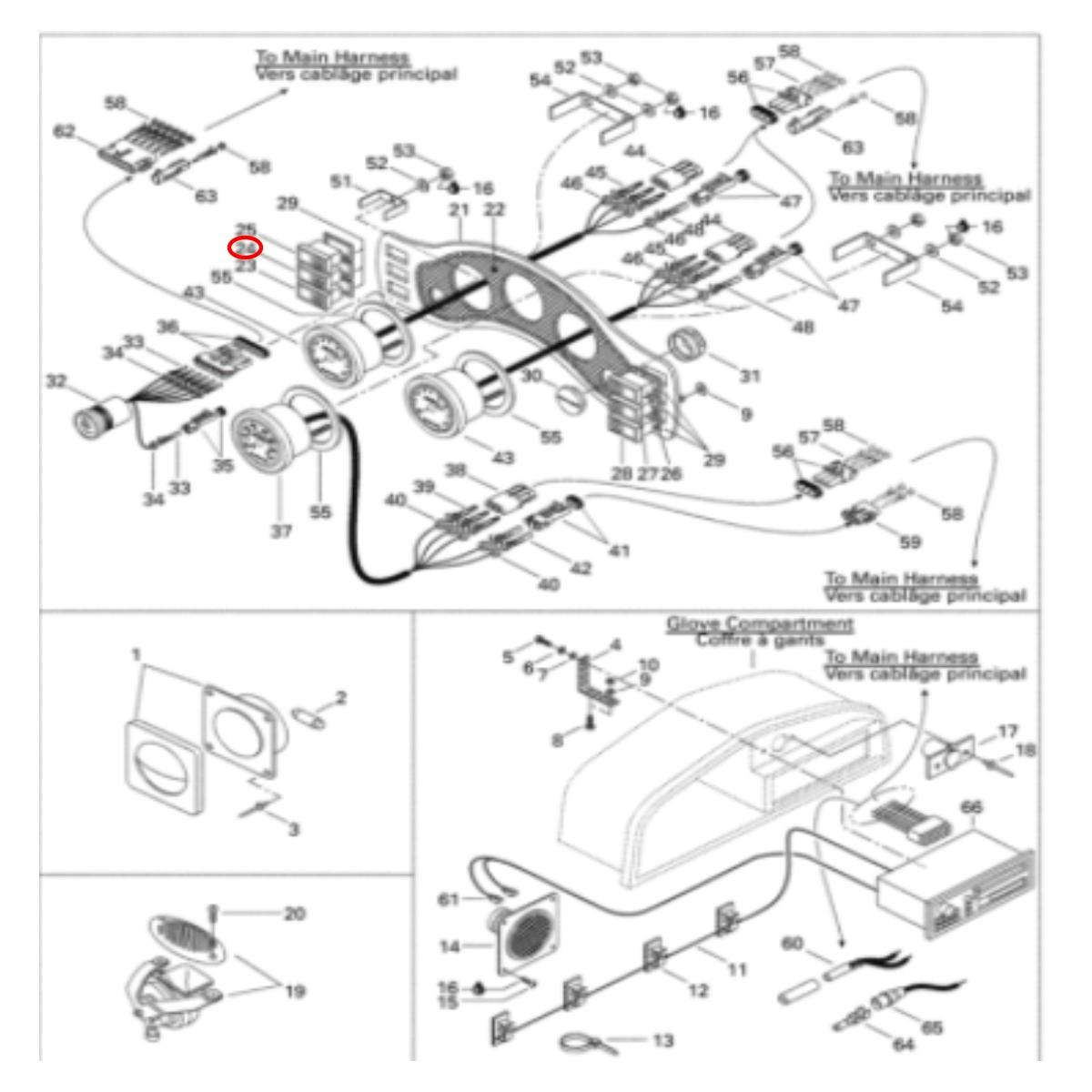 Botão Bomba de Porão do Challenger 1800 para Jet Ski Sea Doo  - Radical Peças - Peças para Jet Ski