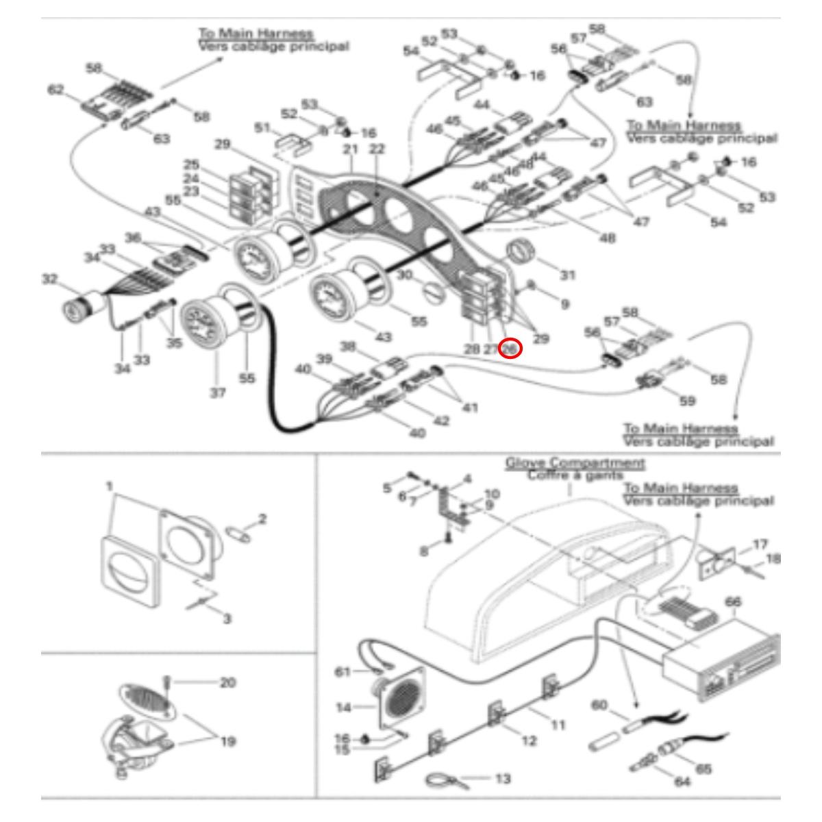 Botão Buzina Challenger 98 Painel para Jet Ski Sea Doo  - Radical Peças - Peças para Jet Ski