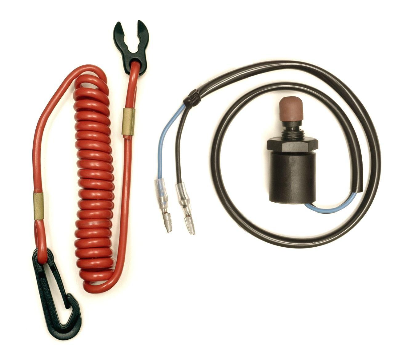 Botão de Emergência e Desligamento c/ Cordão de Segurança Motor Suzuki 4/40 HP a partir de 1986+  - Radical Peças - Peças para Jet Ski