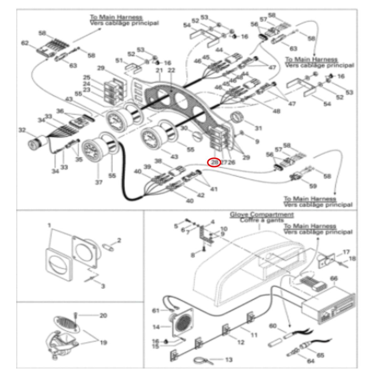 Botão Gasolina Challenger Painel para Jet Ski Sea Doo  - Radical Peças - Peças para Jet Ski
