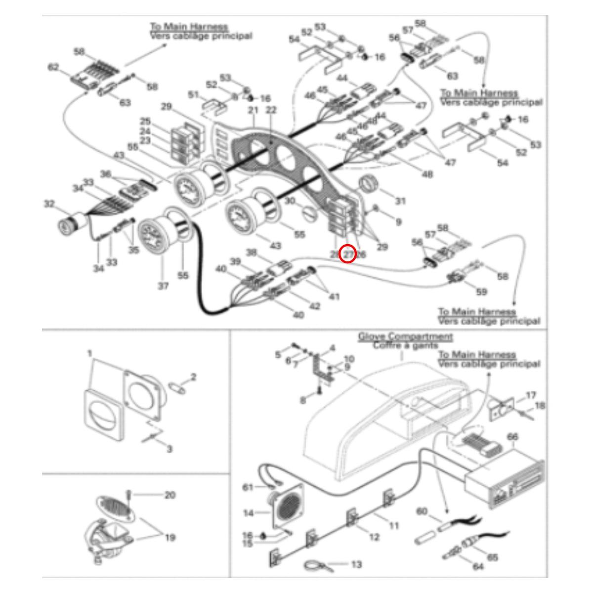 Botão Luz Challenger para Jet Ski Sea Doo 1800 97/98  - Radical Peças - Peças para Jet Ski