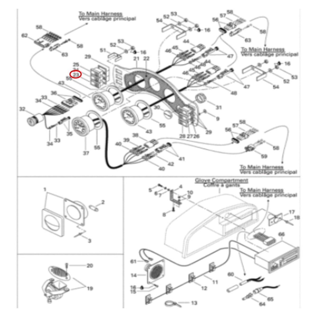 Botão Ventoinha Speedster 98 Painel para Jet Ski Sea Doo  - Radical Peças - Peças para Jet Ski
