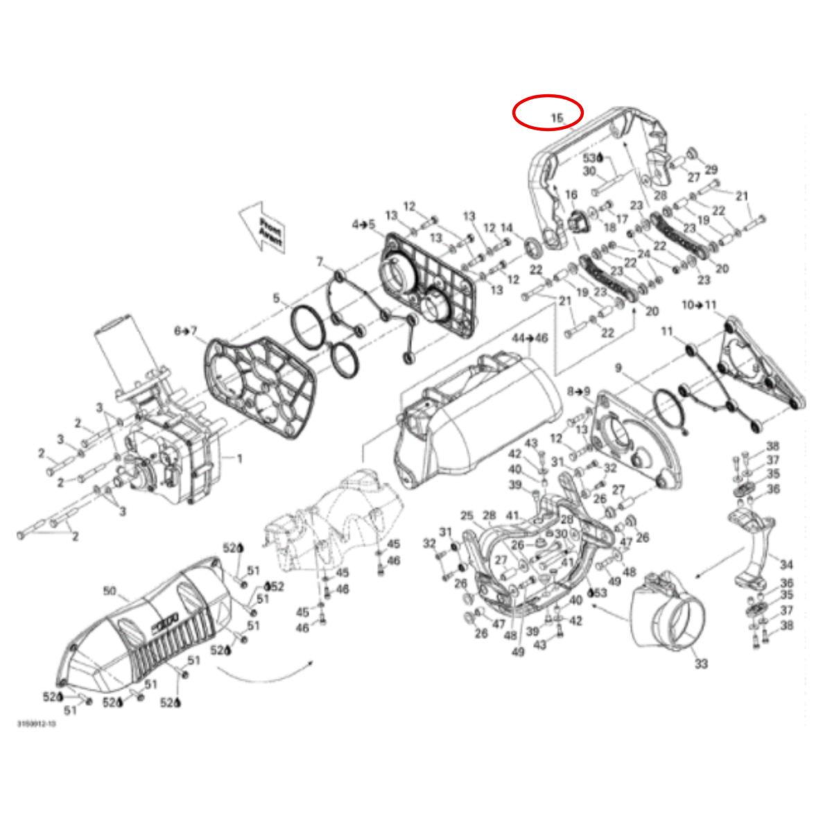 Braço Do Reverso Sea Doo Rxt/Gtx  - Radical Peças - Peças para Jet Ski