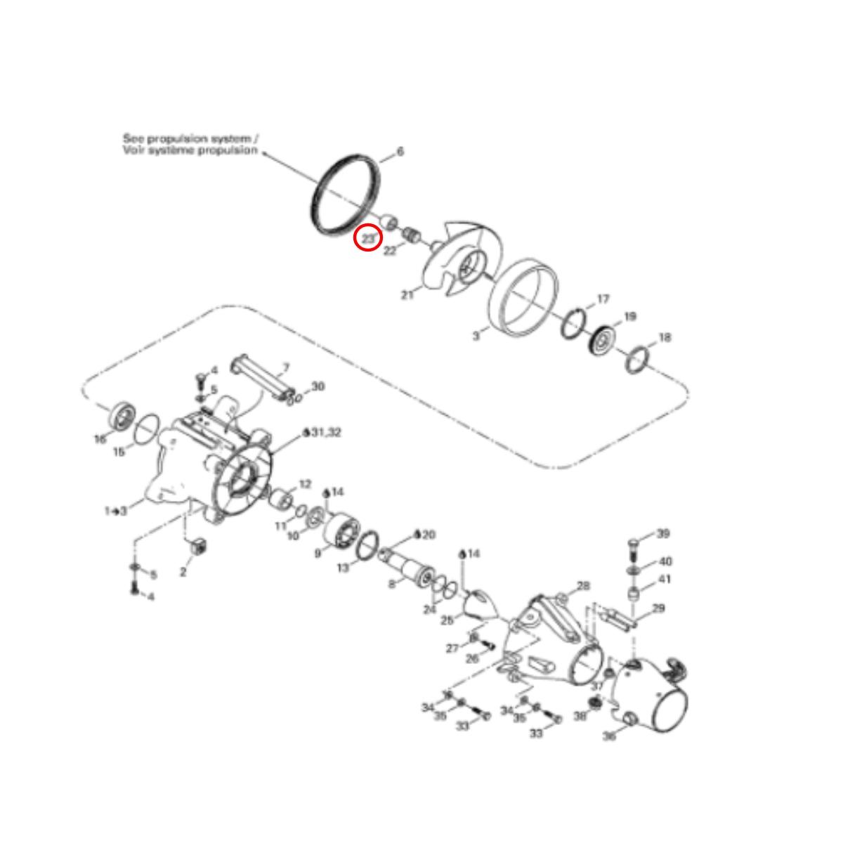 Bucha da Hélice Jet Ski Sea Doo GTX 4 TEC  - Radical Peças - Peças para Jet Ski