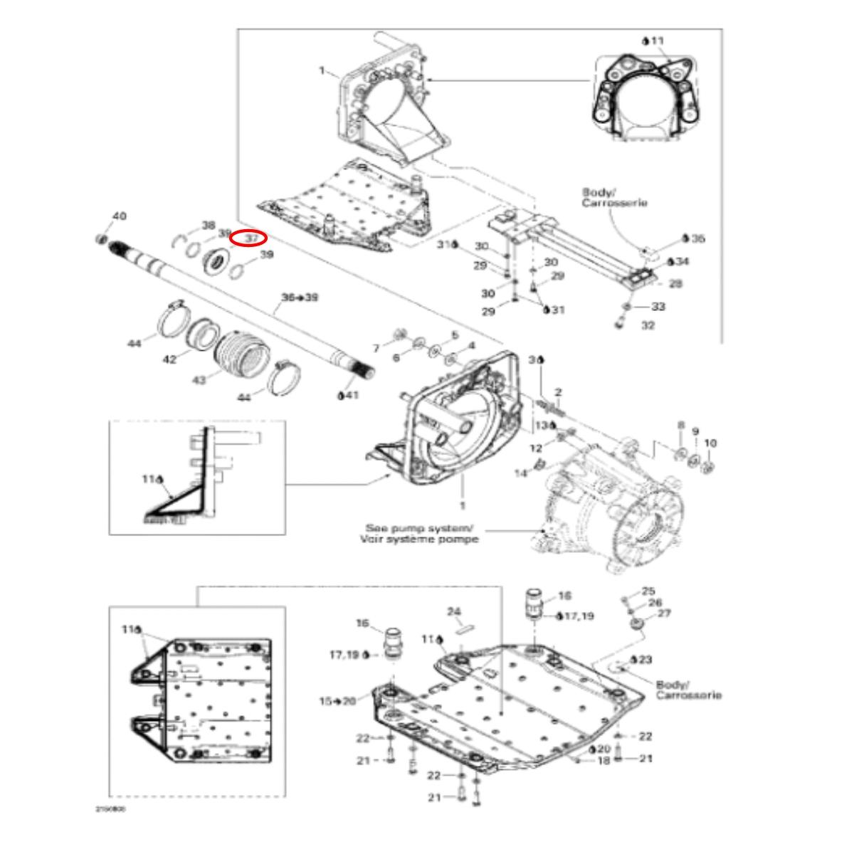 Bucha de Inox Anel de Carbono para Jet Ski Sea Doo 4 tec gti/gtx  - Radical Peças - Peças para Jet Ski