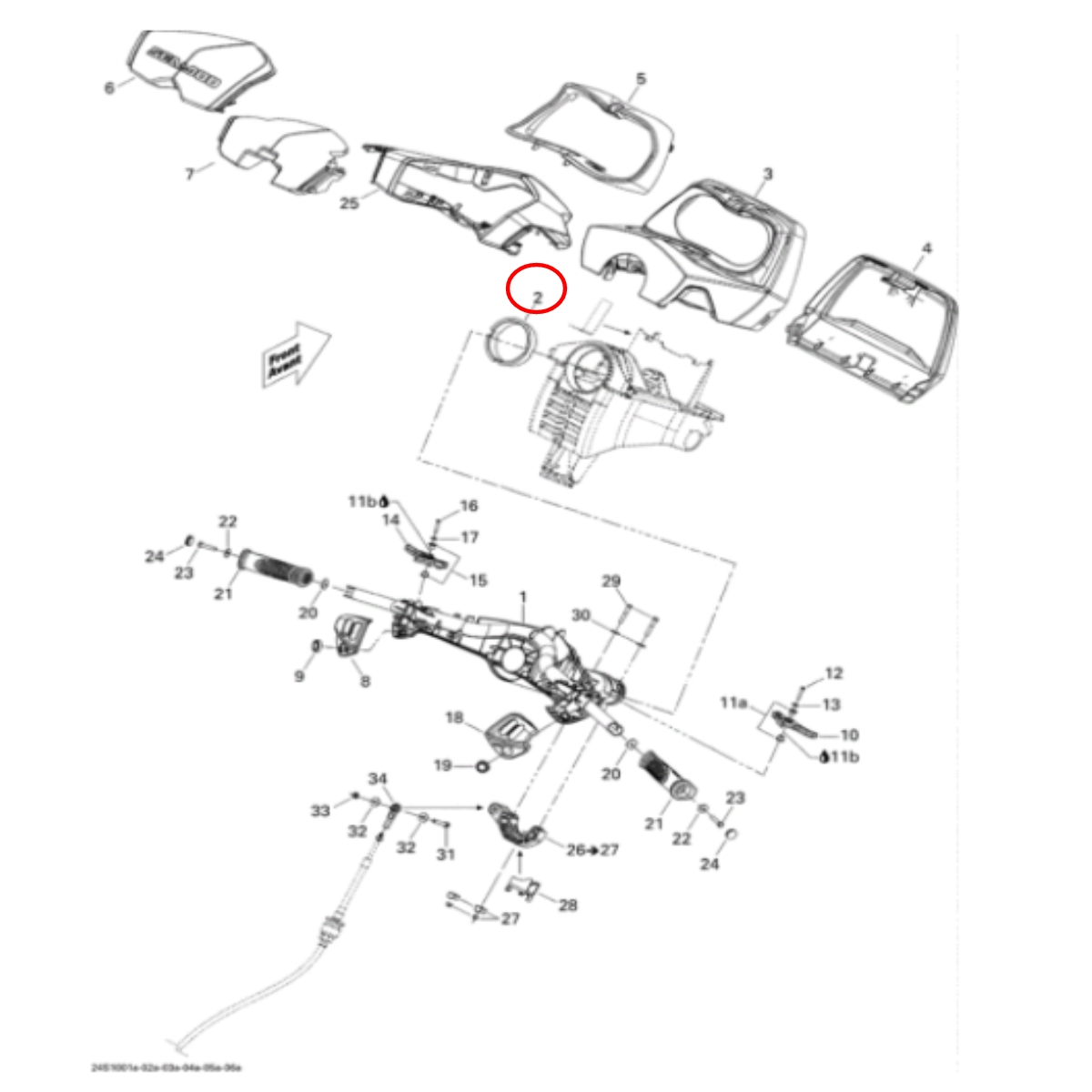 Bucha do Guidão jet ski Sea Doo GTI 2011  - Radical Peças - Peças para Jet Ski
