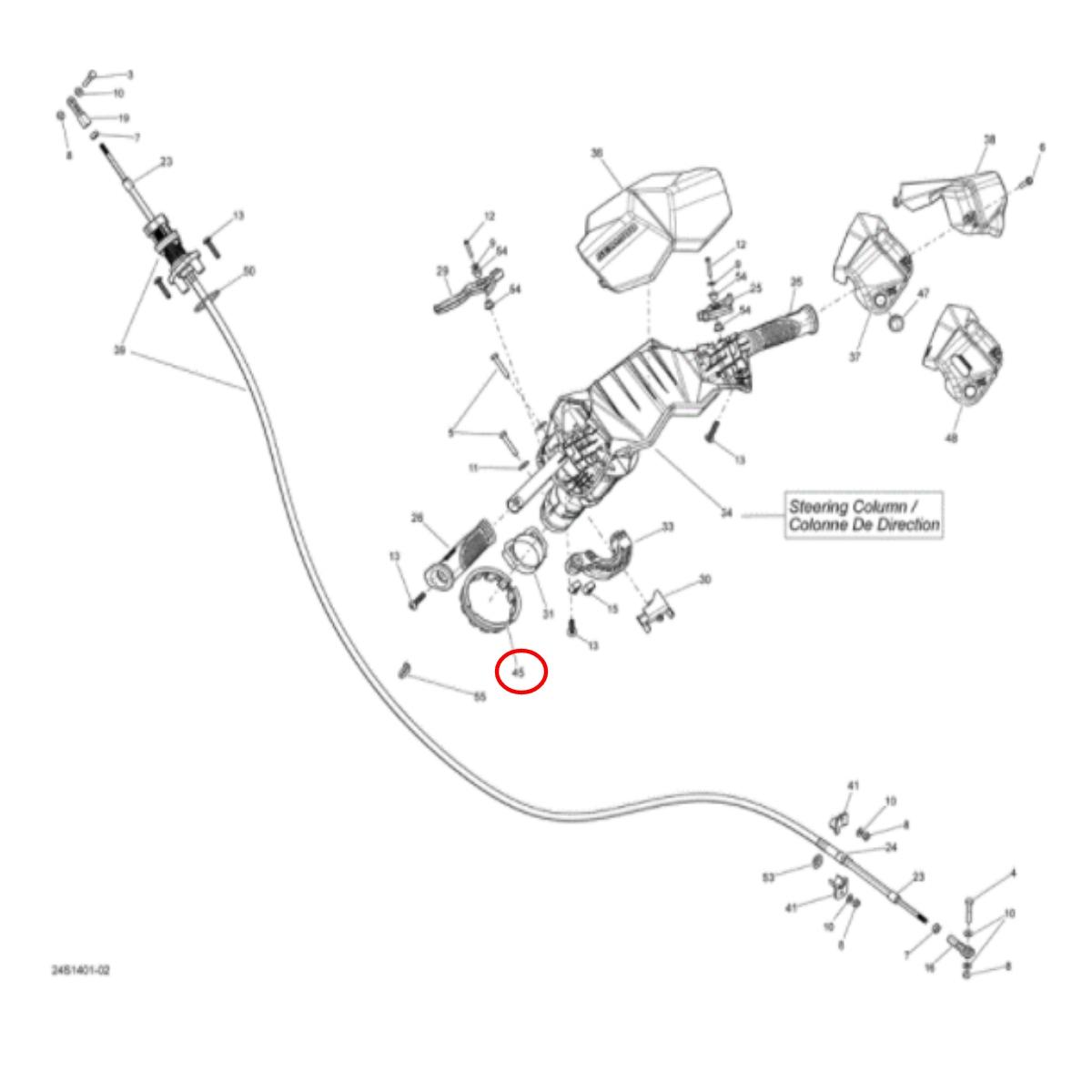 Bucha do Guidão Para Jet Sea Doo  - Radical Peças - Peças para Jet Ski