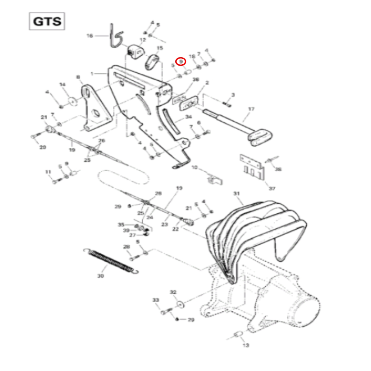 Bucha do Reverso para Jet Ski Sea Doo GTI/GTS/RX  - Radical Peças - Peças para Jet Ski
