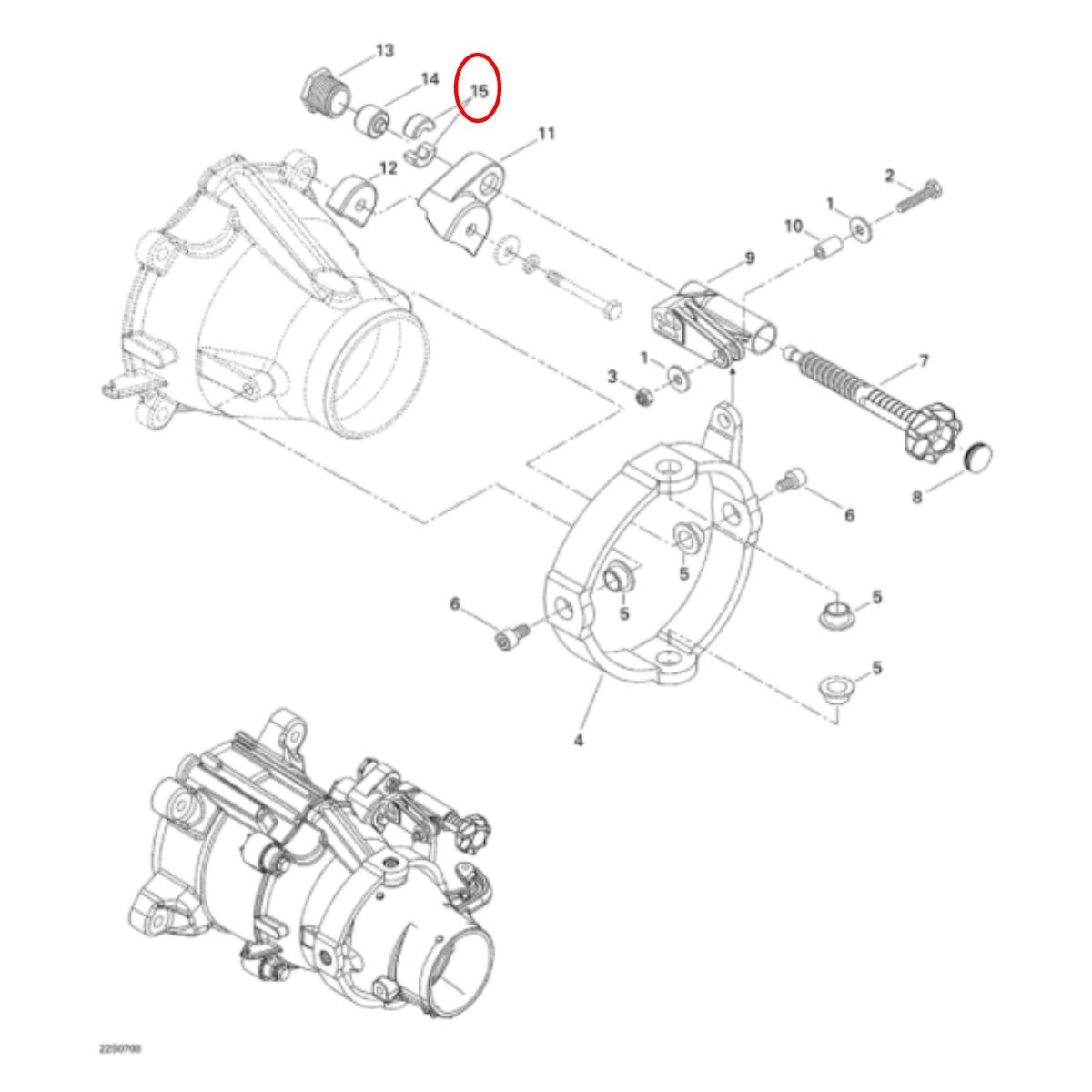 Bucha do Trim Jet Ski Sea Doo HX/SPI/3D  - Radical Peças - Peças para Jet Ski