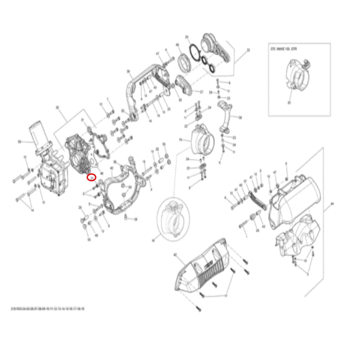 Bucha Freio para Sea Doo 4 TEC (BUCHA NYLON IBR)  - Radical Peças - Peças para Jet Ski