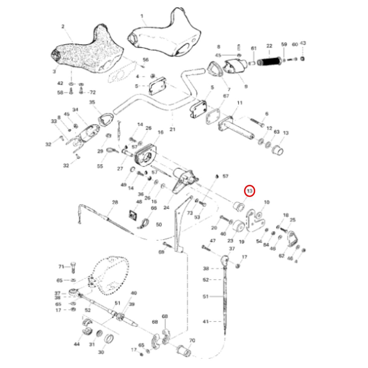 Bucha Guidão Jet Ski Sea Doo GT/SP/GTI/GTS  - Radical Peças - Peças para Jet Ski