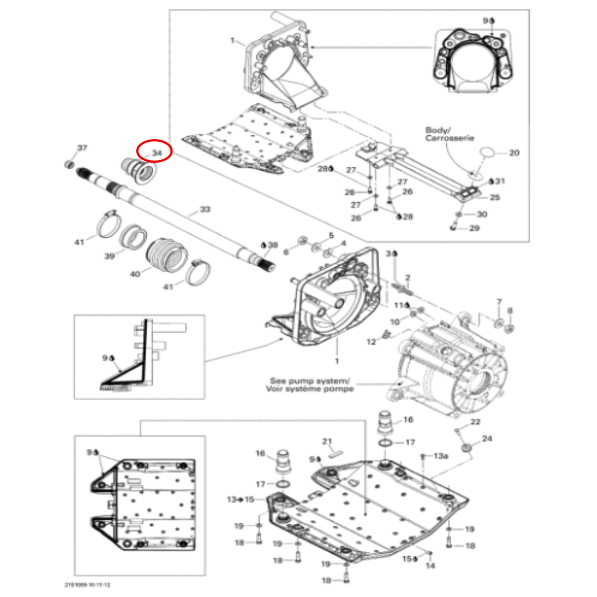 Bucha Inox Anel Carbono para Jet Ski Sea Doo 4 TEC IS  - Radical Peças - Peças para Jet Ski