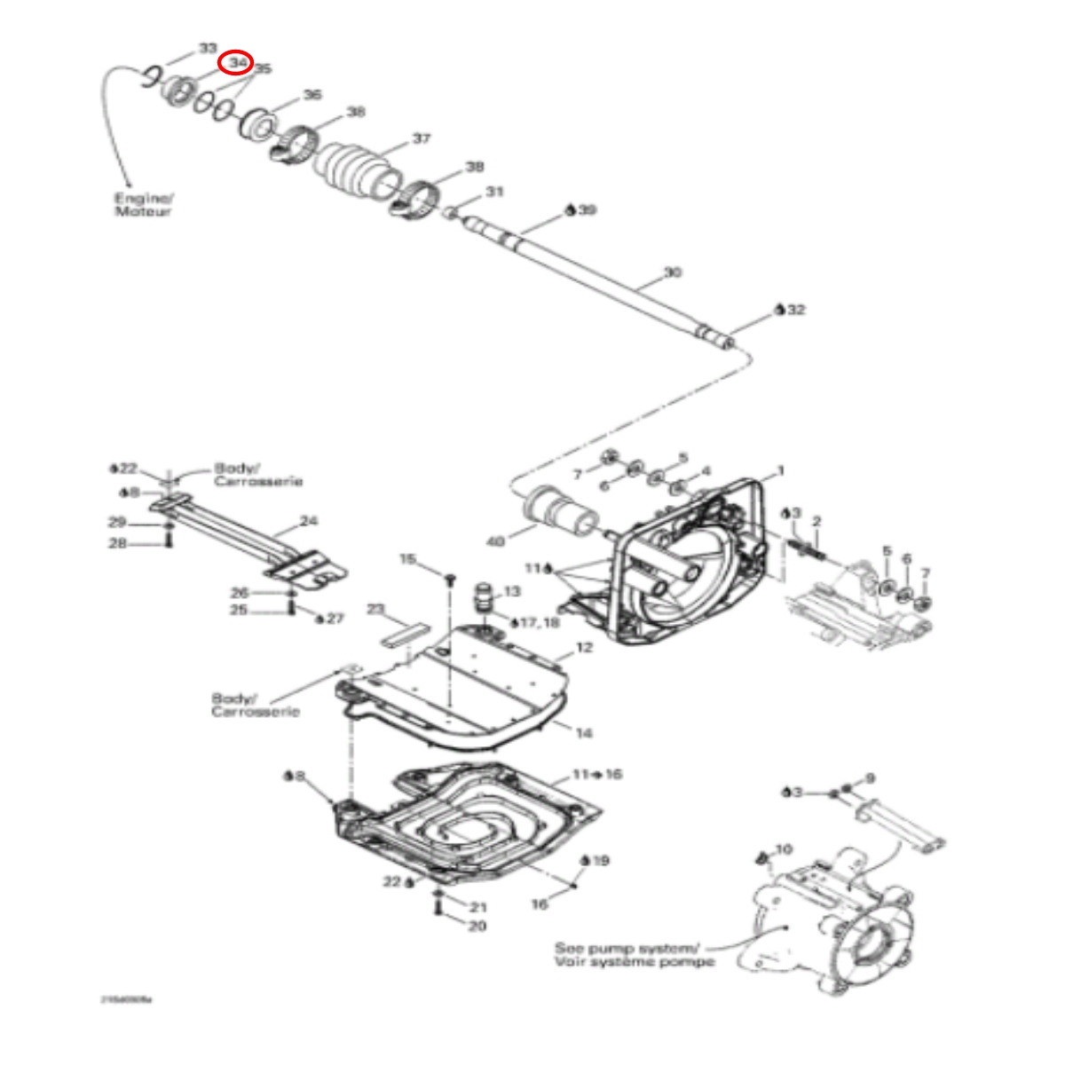 Bucha Inox Anel Carbono para Jet Ski Sea Doo 4 TEC RXP/GTR/GTX/RXT (sem rosca)  - Radical Peças - Peças para Jet Ski