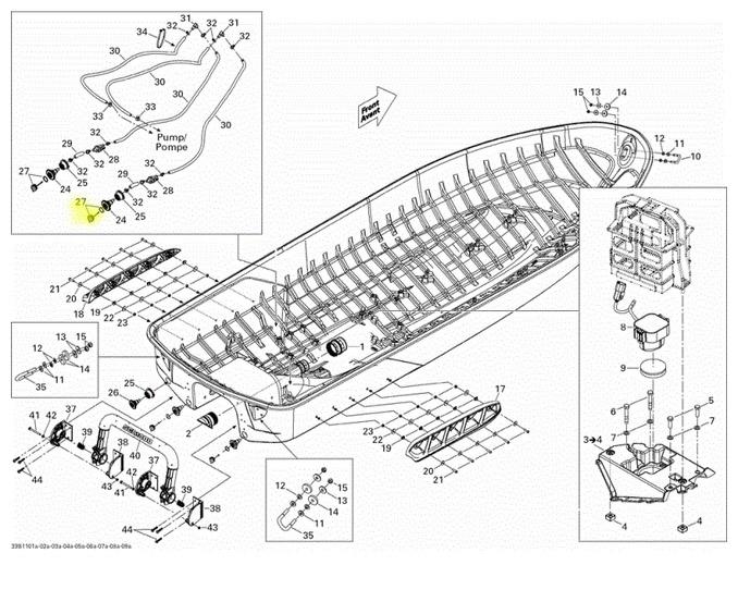 Bujão de Casco Jet Ski Sea Doo 4 tec 2011 Up Nacional (Só o Pino) 292001352  - Radical Peças - Peças para Jet Ski