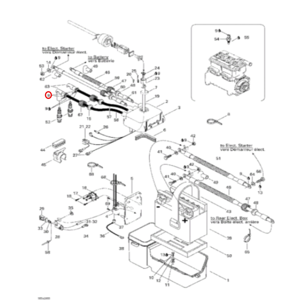Cachimbo de vela  para Jet Ski Sea Doo, Yamaha, Kawasaki NGK   - Radical Peças - Peças para Jet Ski
