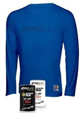 Blusa Masculina Sun Protection Prolife Azul - Proteção Solar UV UPF 50+  - Radical Peças - Peças para Jet Ski