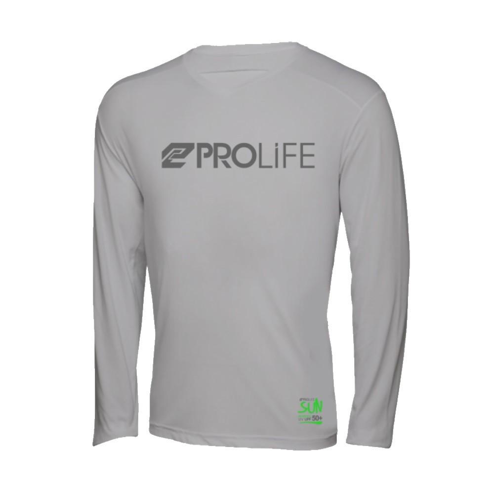 Blusa Masculina Sun Protection Prolife Cinza - Proteção Solar UV UPF 50+  - Radical Peças - Peças para Jet Ski